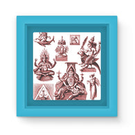 Budhism and Hinduism Gods Magnet Frame