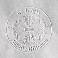 Embossing Motif Lotus for preprinted print with an embossing plier