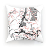 Hobbits Lord of the Ring Map Cushion