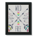 Wild and Free Framed Eco-Canvas