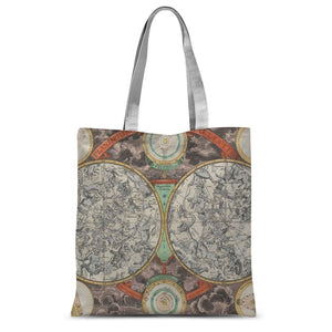 Planisphere Norimbergensis Astrology Map Sublimation Tote Bag