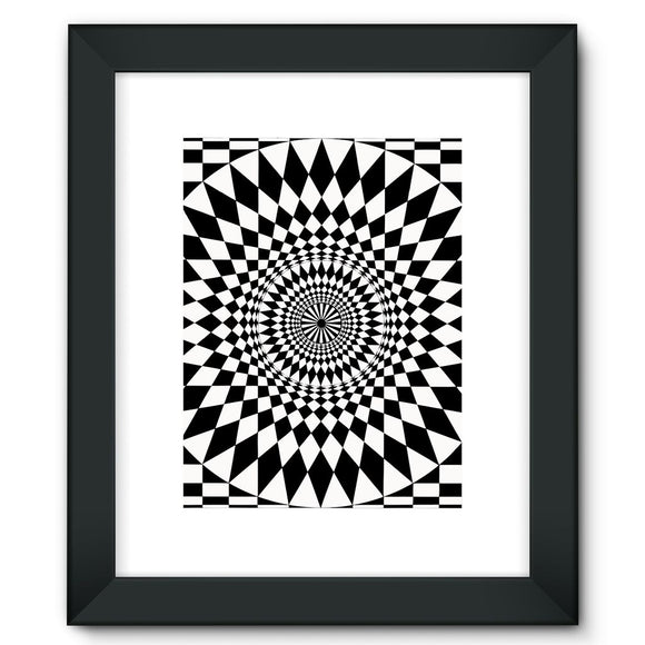 Geometry Design Framed Fine Art Print