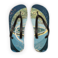 Yggdrasill Flip Flops THE NINE WORLDS of NORSE MYTHOLOGY