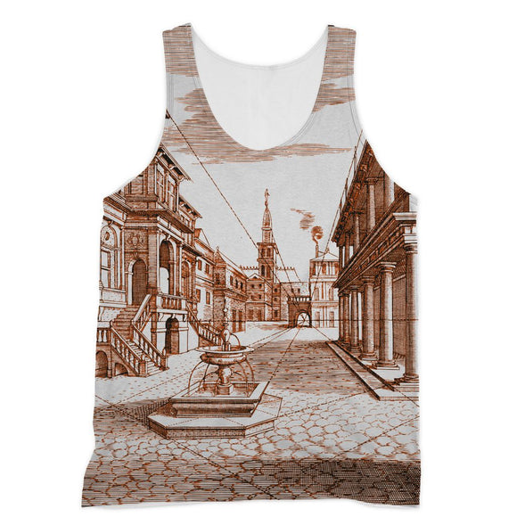 Architecture Old Europe City Sublimation Vest