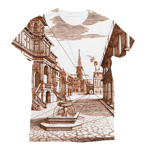 Architecture Old Europe City Sublimation T-Shirt