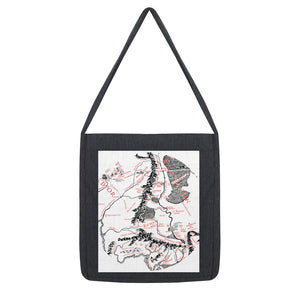 Hobbits Lord of the Ring Map Tote Bag