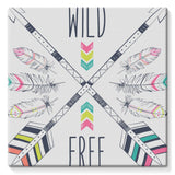 Wild and Free Stretched Canvas