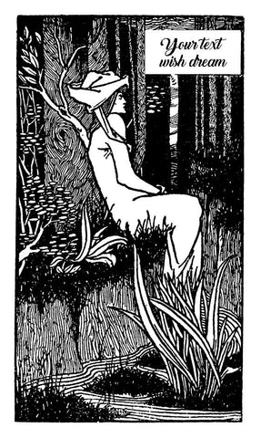 Bookplate Aubrey Beardsley, rubber stamp