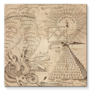 Antimasonic Apron Stretched Canvas