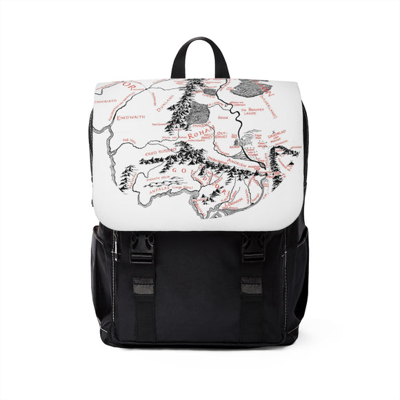 Lord of the Rings Hobbit Gondor Map Shoulder Backpack