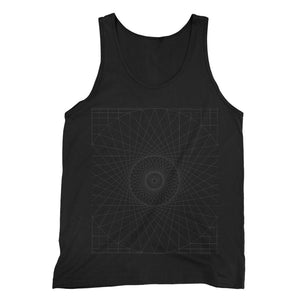 Geometry Design Fine Jersey Tank Top