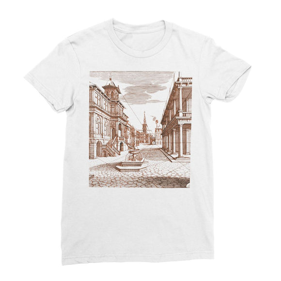 Architecture Old Europe City Women's Fine Jersey T-Shirt