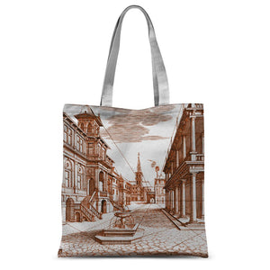 Architecture Old Europe City Sublimation Tote Bag