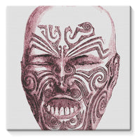 Tattoo Head New Zealand Stretched Canvas