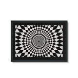 Geometry Design Framed Eco-Canvas