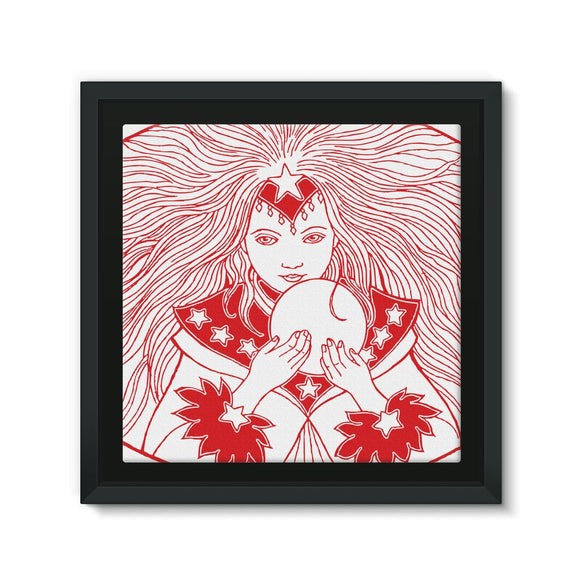 Magic Girl Framed Eco-Canvas