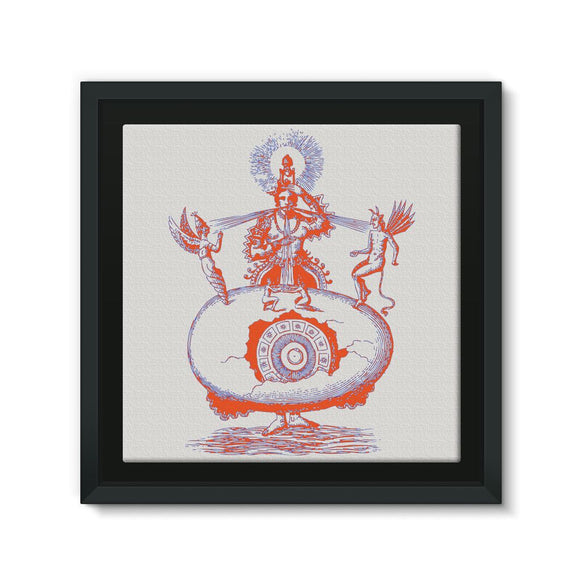 Hindu World Egg Framed Canvas