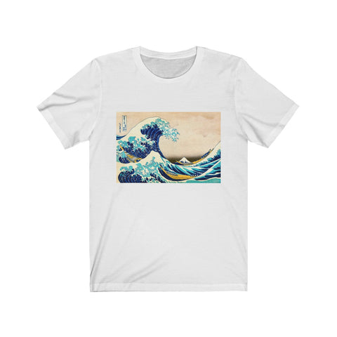 Unisex Jersey Short Sleeve Surfer Tee, The great Wave