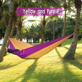 Backpacking Hammock - Portable Nylon Parachute Outdoor Double Hammock