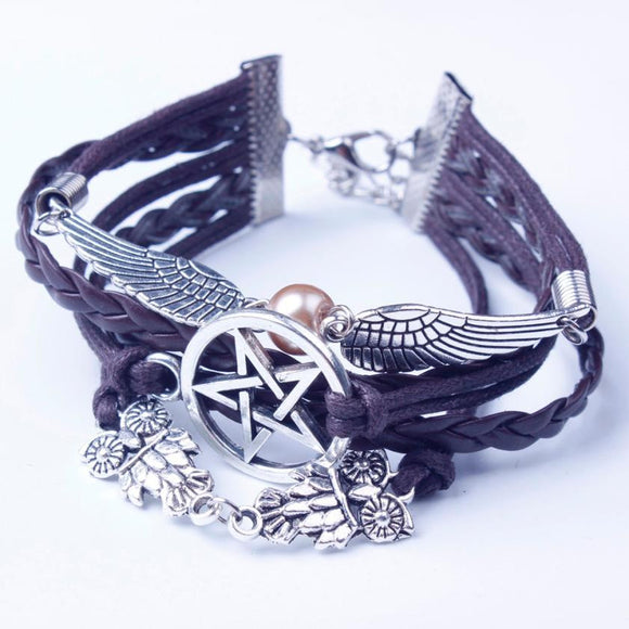 Vintage Retro Women Style Wings Bracelet Bangle Charm Cuff Jewelry gothic bracelet