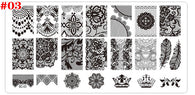 Nail Art Stamp Stamping Templates Manicure Plates Print Stencils Set 4pcs