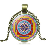 Collier Collares Buddhist Sri Yantra Pendant Necklace Sacred Geometry