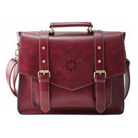 Leather Handbag High Quality Retro Messenger Bags Leather Briefcase Shoulder Bag
