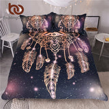 BeddingOutlet Eye Dreamcatcher Bedding Set  Luxury Galaxy Golden Print Bohemian Bedclothes 3d Universe Duvet Cover