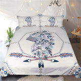 BeddingOutlet Indian Feathers Bedding Set Tribal Duvet Cover Boys Double Bed Set Arrow Printed Vintage Bedclothes Queen Size