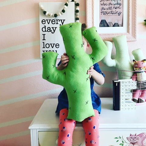 Cactus Pillow for Kids Room Decor