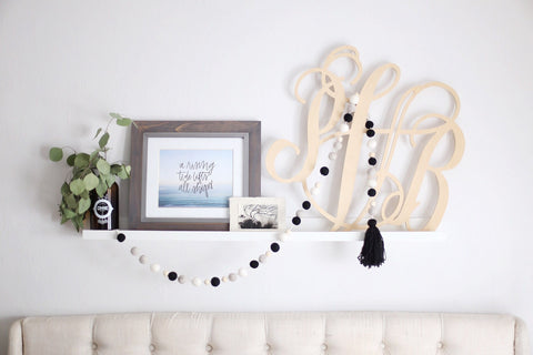 Black and White Garland Wall Decor