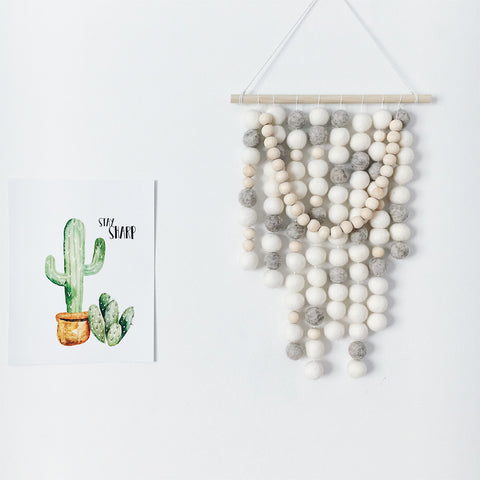 Pom Wall Hanging - White