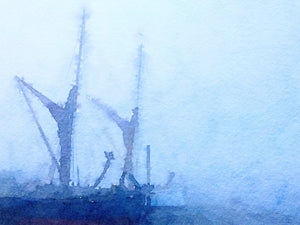 Thames Barges in Fog