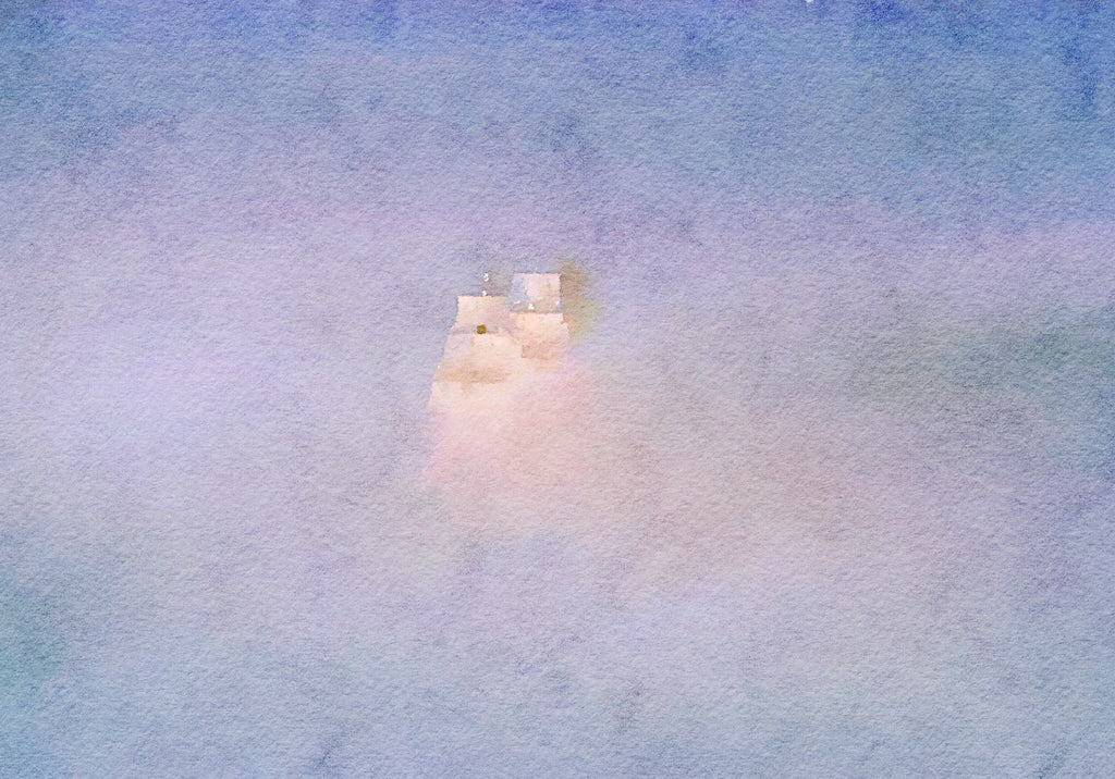 Tallship emerging from fog