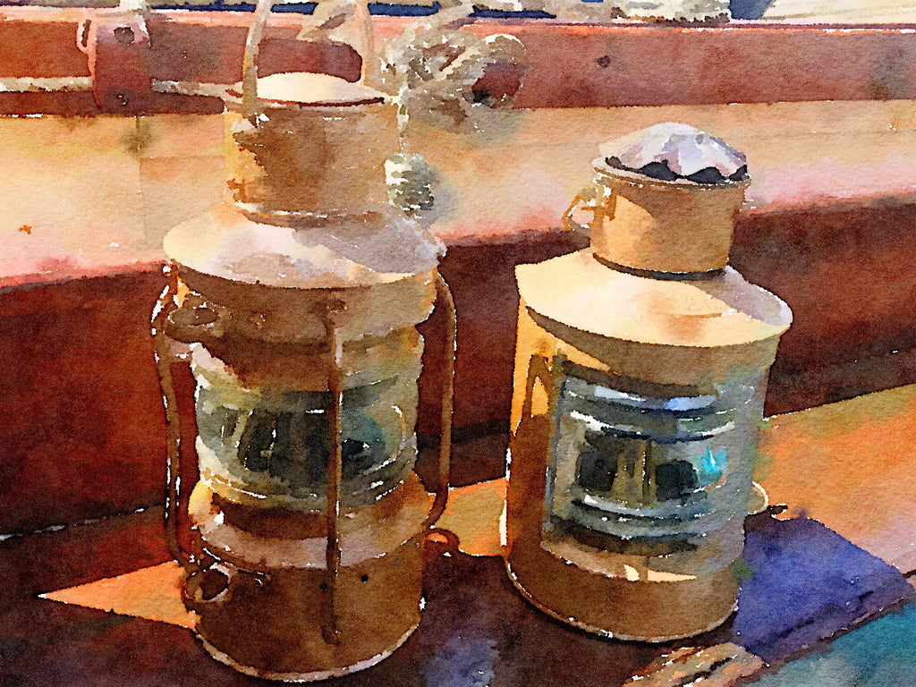 Copper Navigation Oil Lights