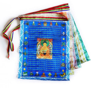 Silk Buddhist Prayer Flags 3 metres