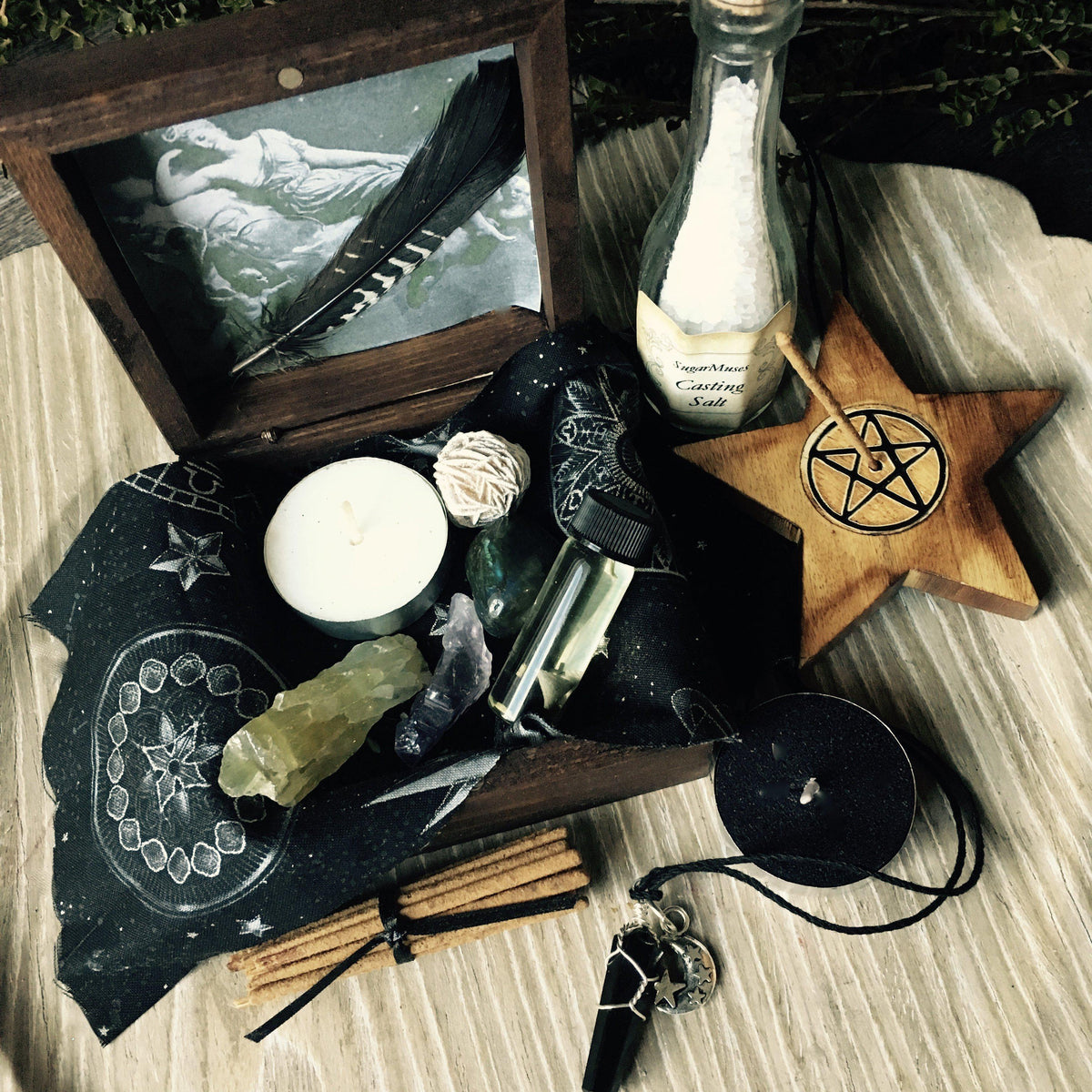 Altar Witch Box Wicca Pagan Goddess Trinket box Altar Supplies Spell Kit ©, pagan kit - SugarMuses