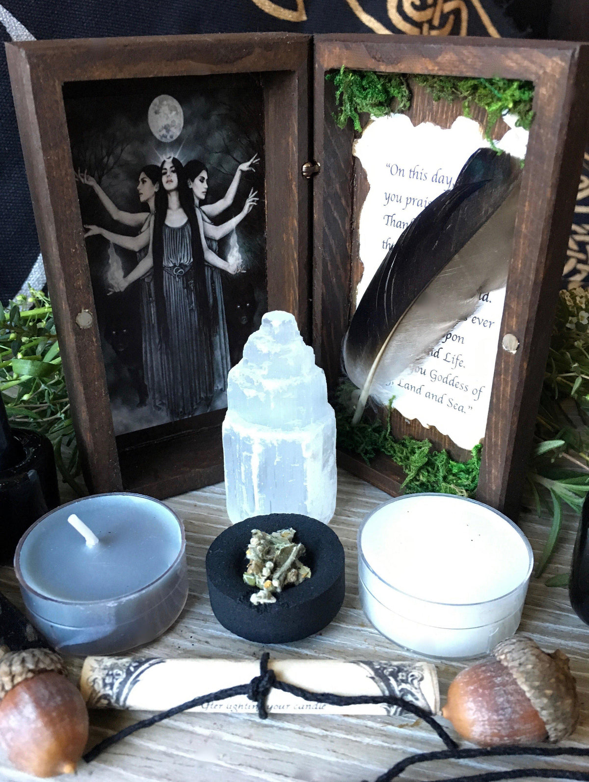 Ancient Wisdom Collection- Hecate Ritual Kit©, ritual kit gift box - SugarMuses