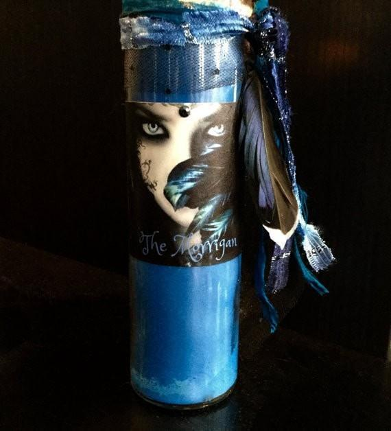 Blue Morrigan Candle, Candles - SugarMuses