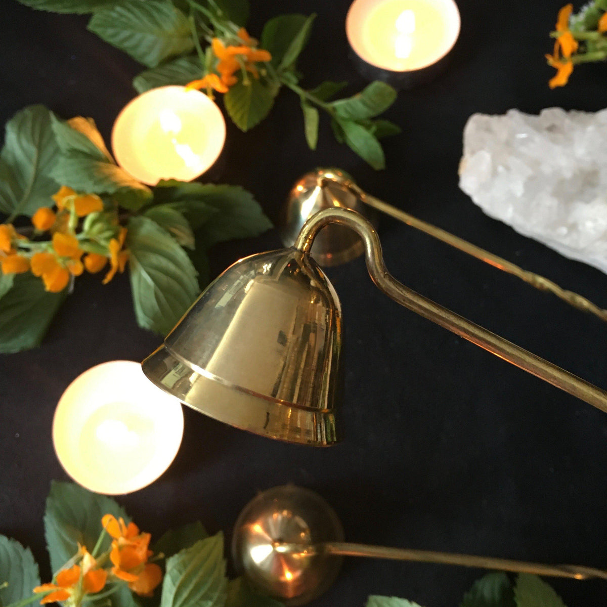 Brass Candle Snuffer, candle snuffer - SugarMuses
