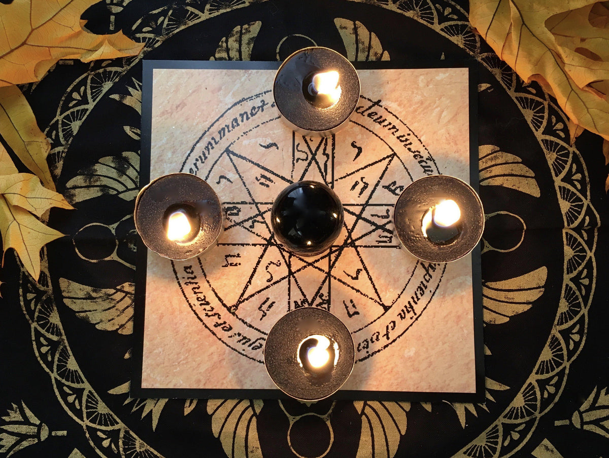 Divination Kit / Candle Grid for Scrying, scrying ball - SugarMuses