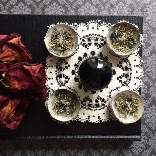 Divination Kit Crystal Ball Candle Grid Scrying, divination set - SugarMuses