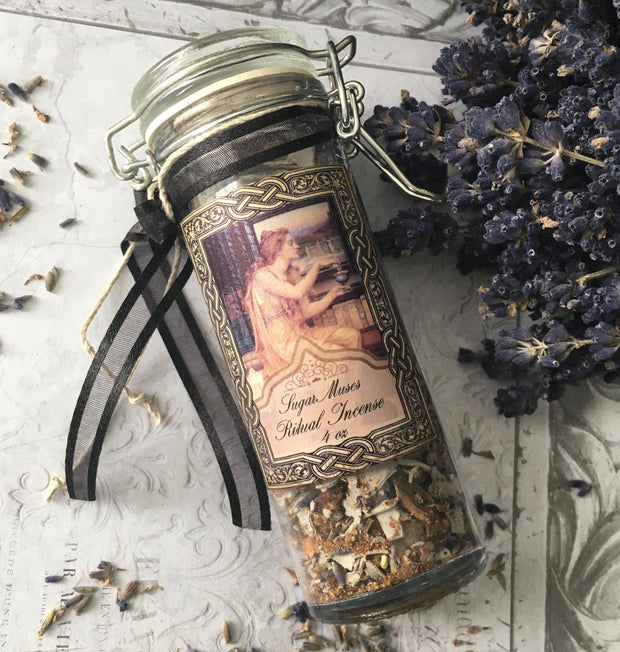 Goddess Collection- Incense Altar Blend with Frankincense,  Myrrh, Sage & Lavender, loose incense - SugarMuses