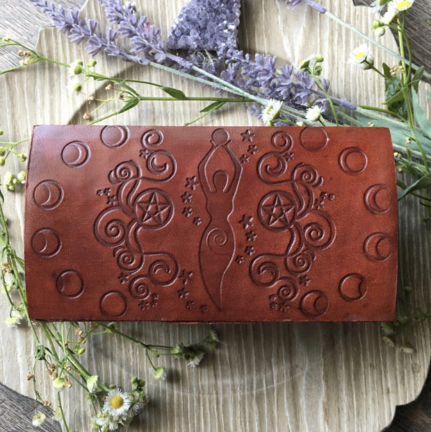 Goddess Leather Keepsake Box, Boxes - SugarMuses