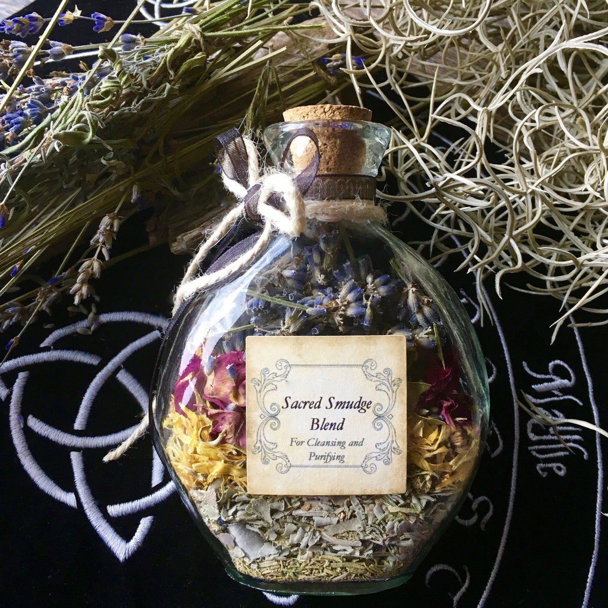 Herb and Flower Incense Blend- Sacred Smudge, Smudging/Incense - SugarMuses