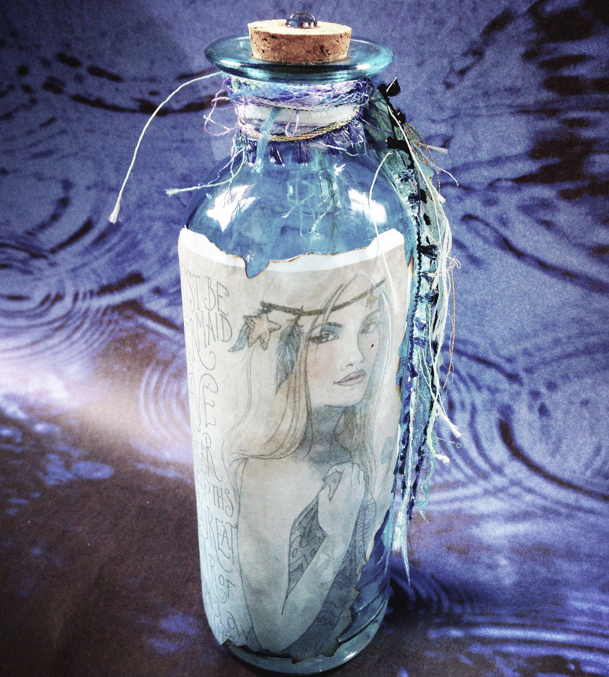 Mermaid Spell Bottle- Message in a Bottle®, spell bottle - SugarMuses