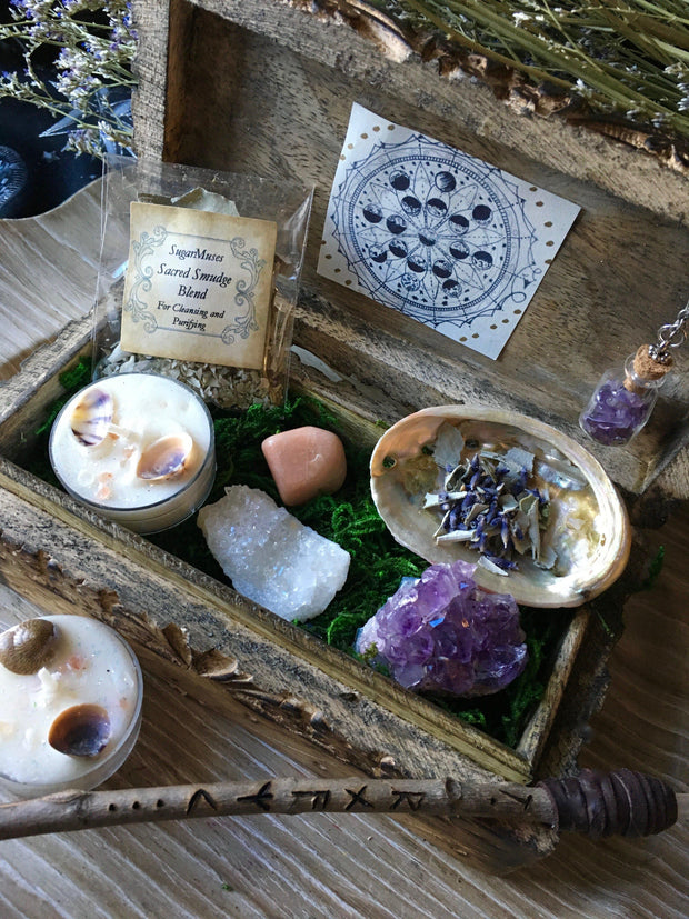 Purple Altar Hermetic Box Set, Altar Set - SugarMuses