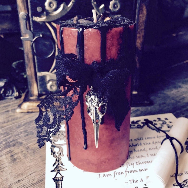 Red Morrigan Spell Candle, Candles - SugarMuses
