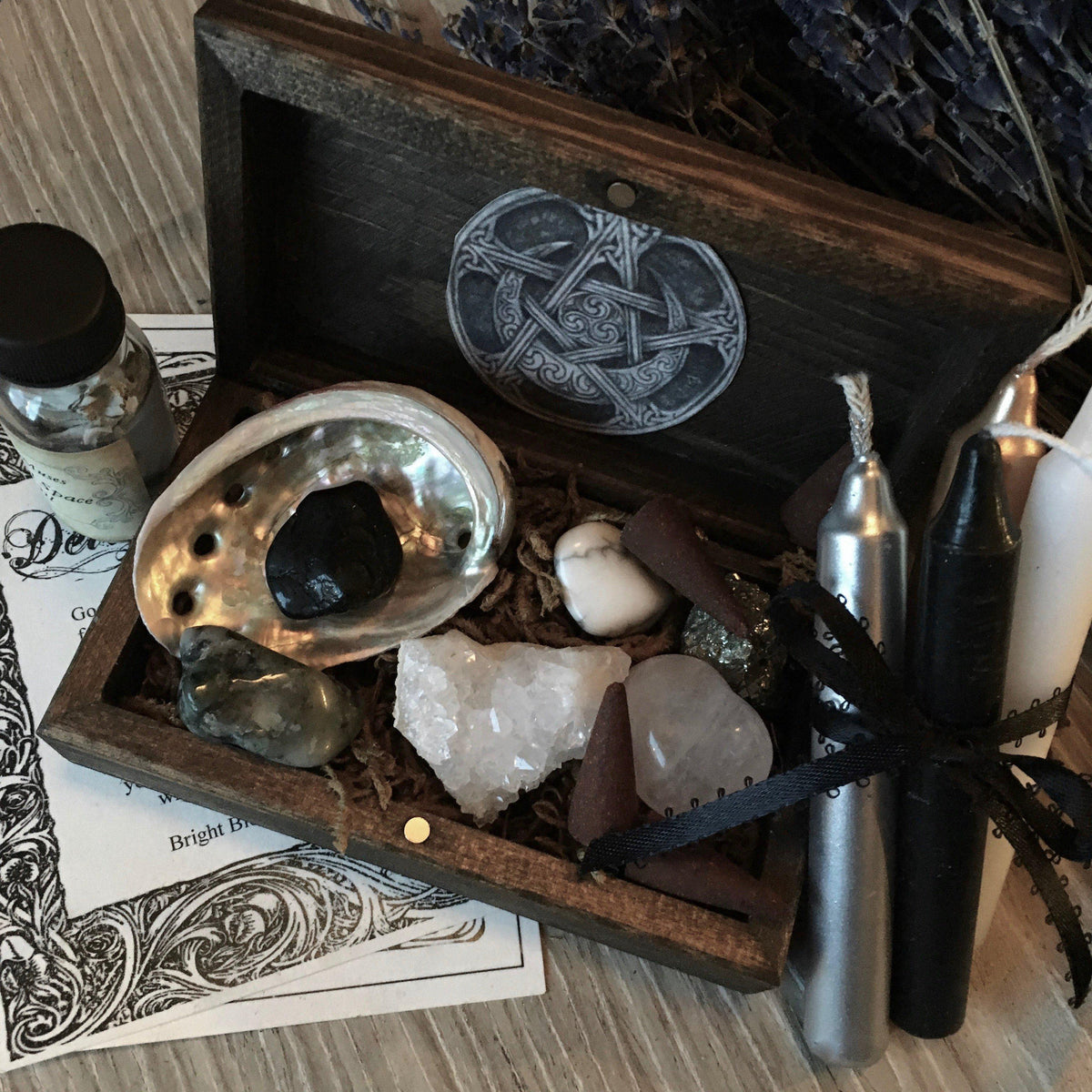 Starter Supplies for the Goddess, Pagan, Witch, altar supply - SugarMuses