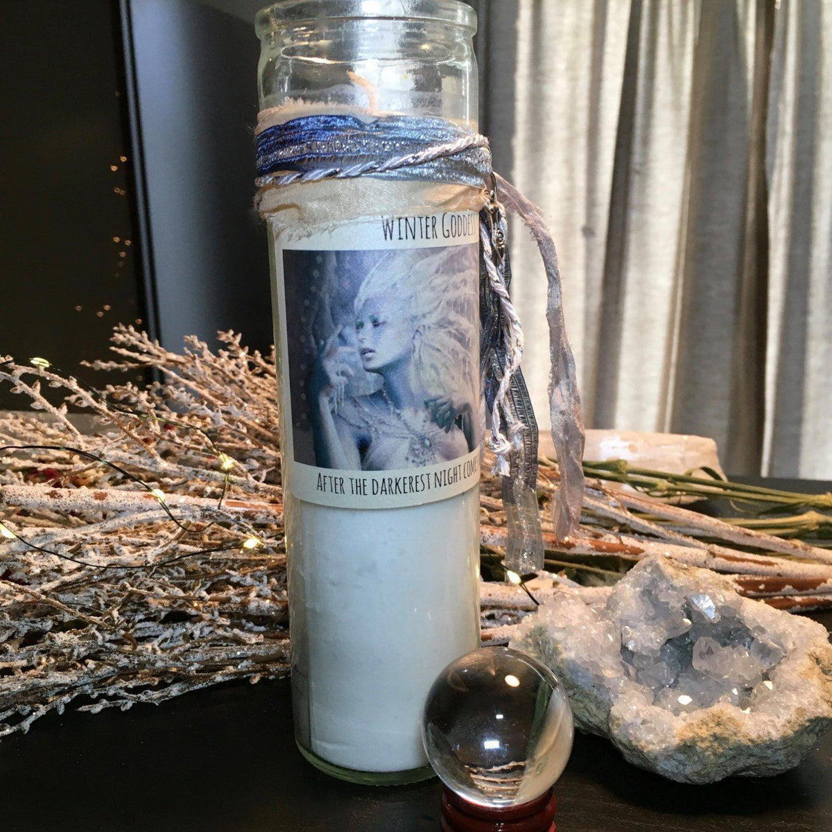 Winter Goddess Candle for Light, Hope, and New Beginnings, Candles - SugarMuses